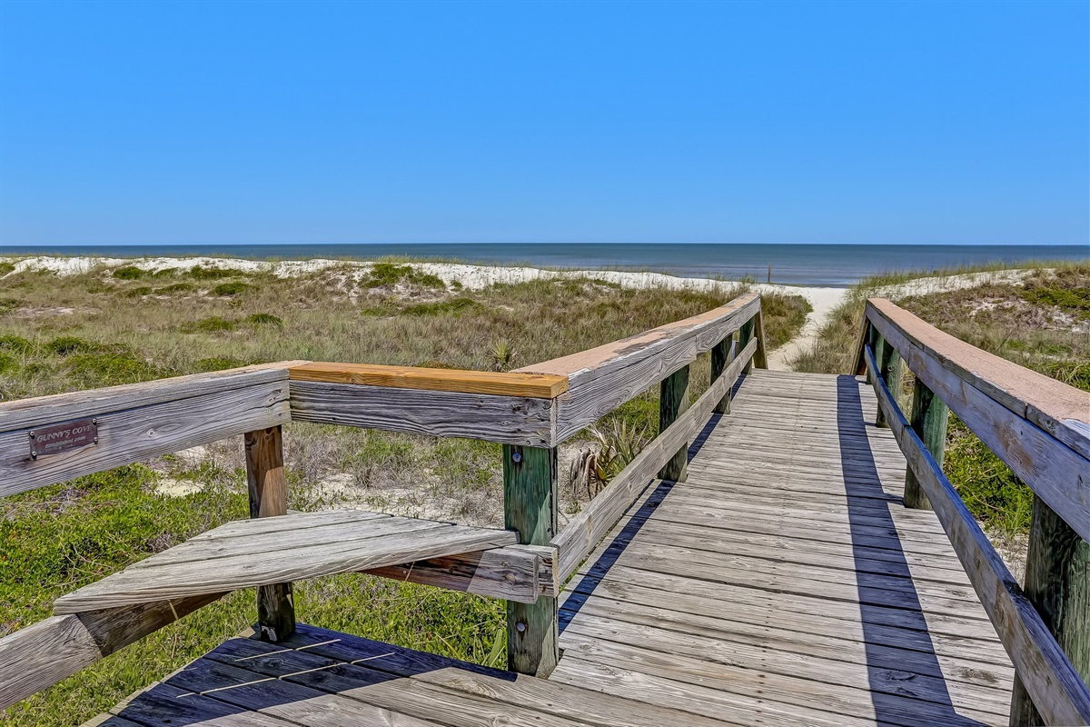 Private Boardwalk to Beach