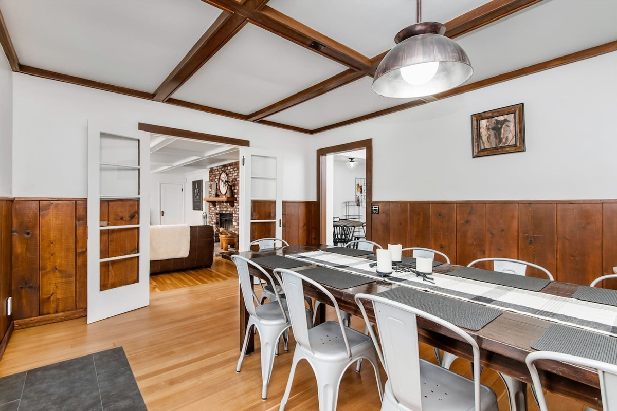 Dining Room (Lower Level): The dining room is conveniently located next to the living room.