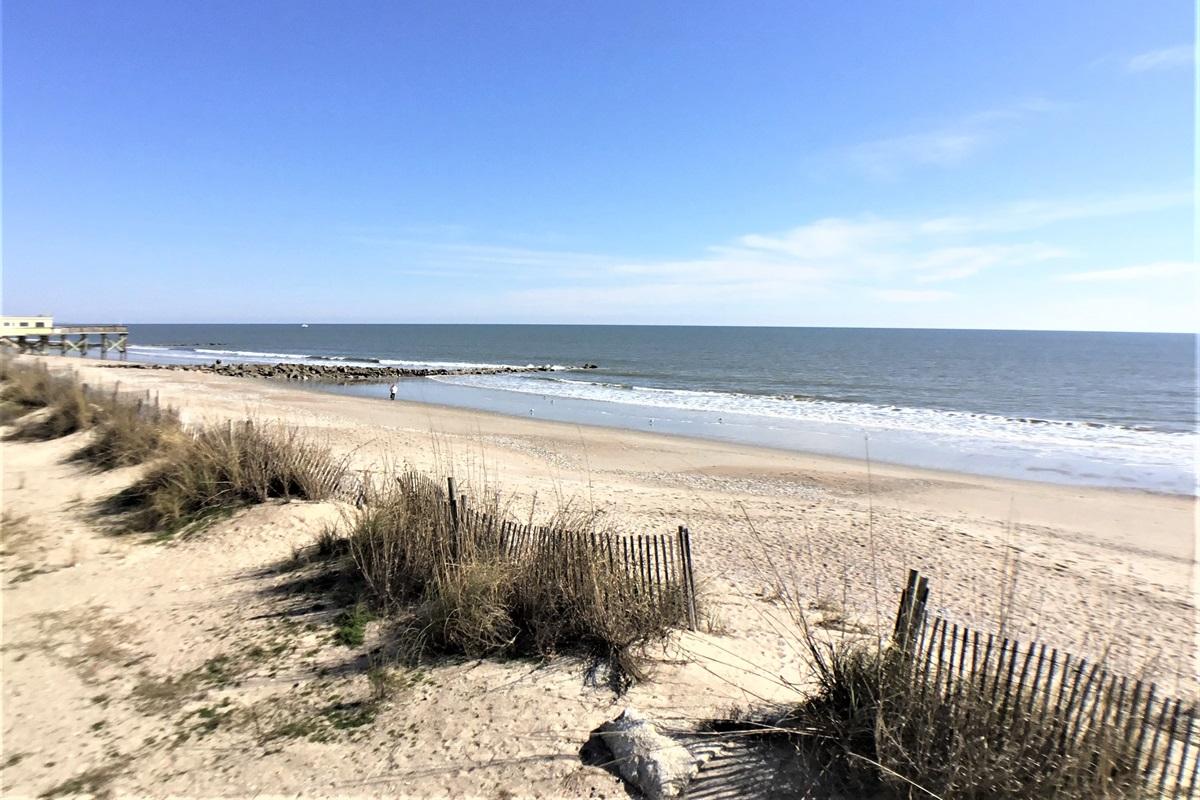 North View of Beach Jan 2021