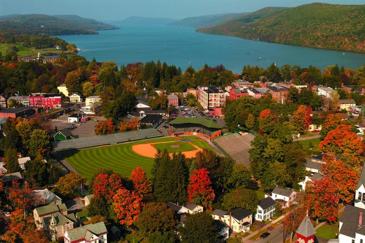 Cooperstown, NY aerial view