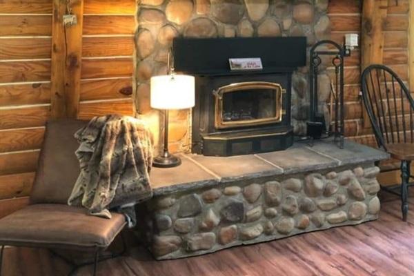 Wood Burning Fireplace upstairs