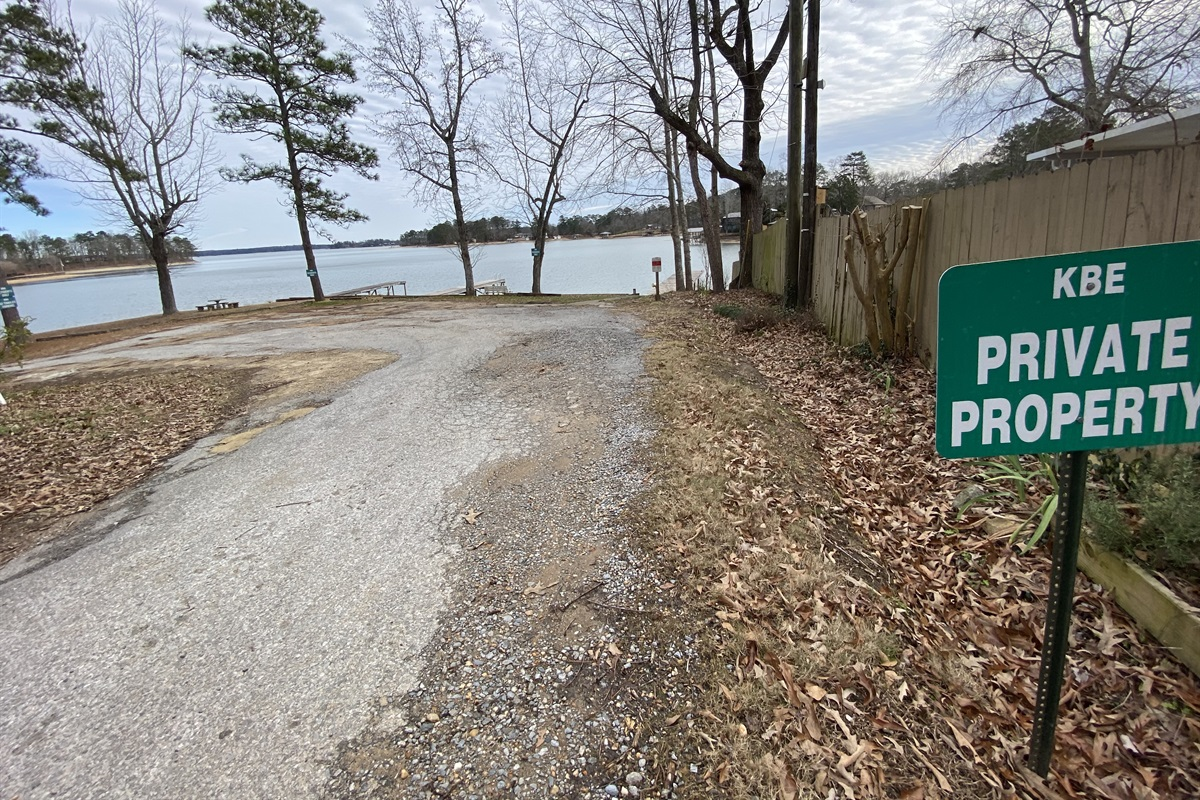 """""""KBE Private Property"""" *please note, the boat ramp here is a bit small. We recommend putting in at Anchor Bay Marina 2001 Castaway Island Rd. Eclectic, AL."""