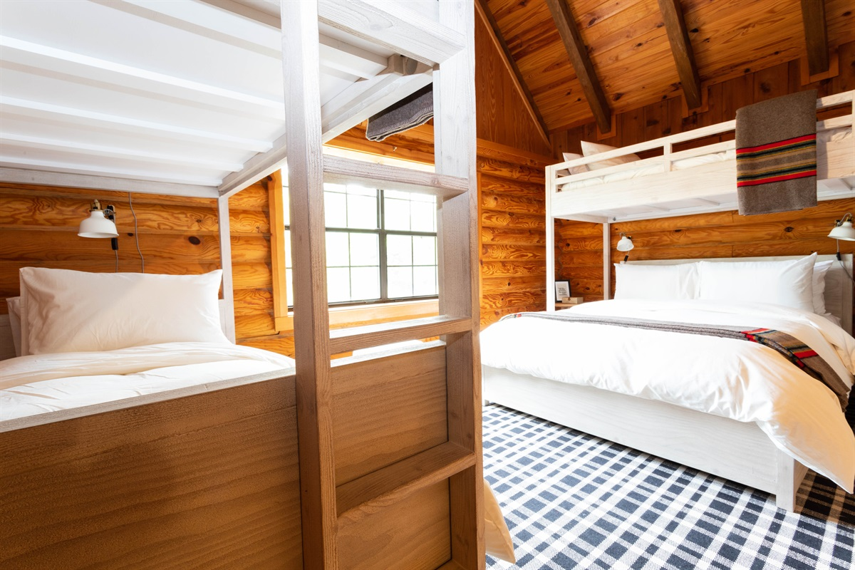 Kid's & Adults will love the bunk beds!