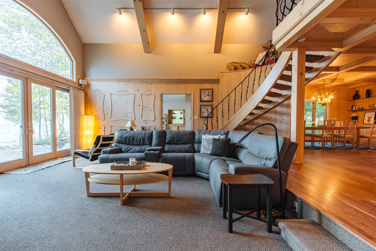 Comfortable Sectional in Great Room