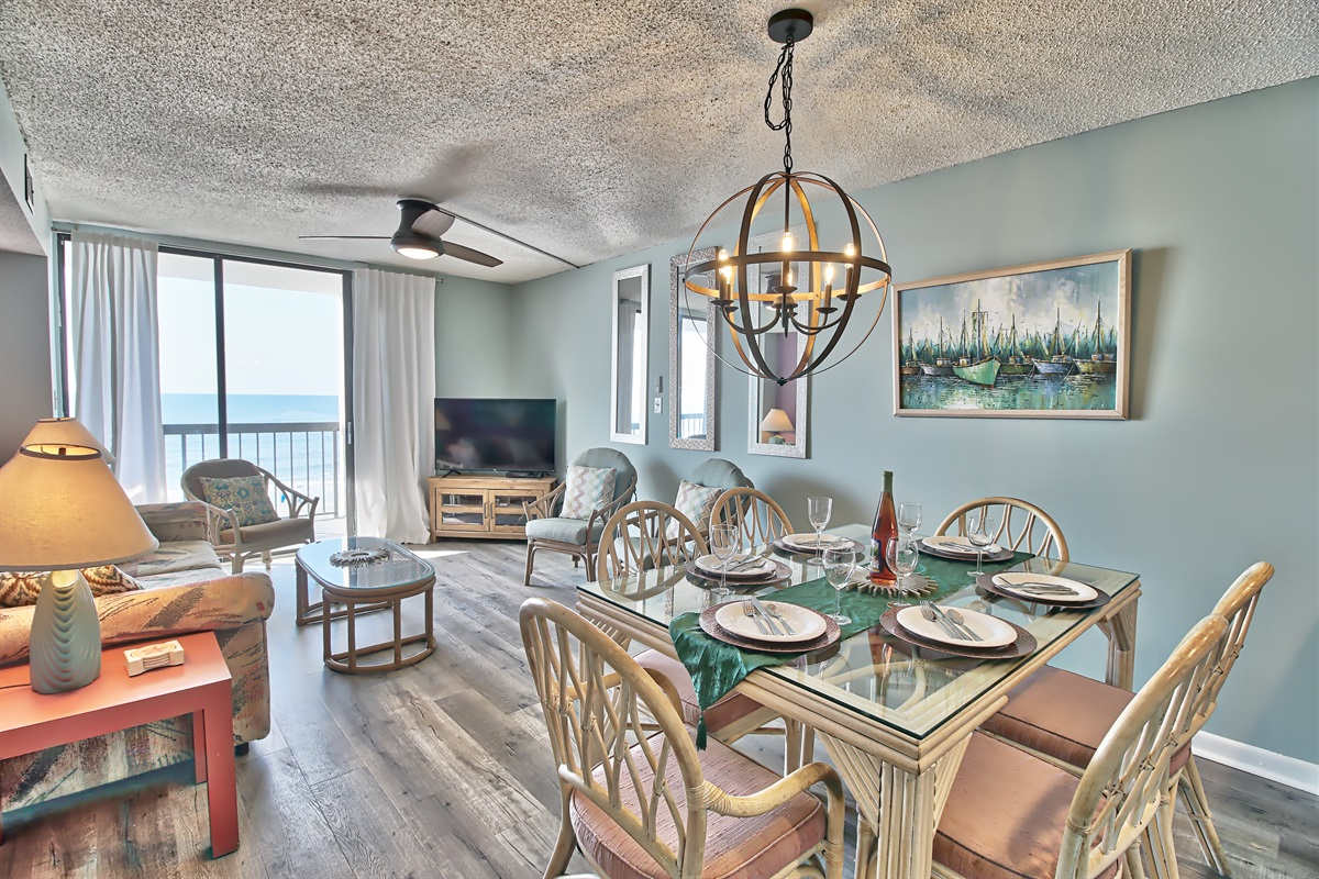 Dine with ocean view