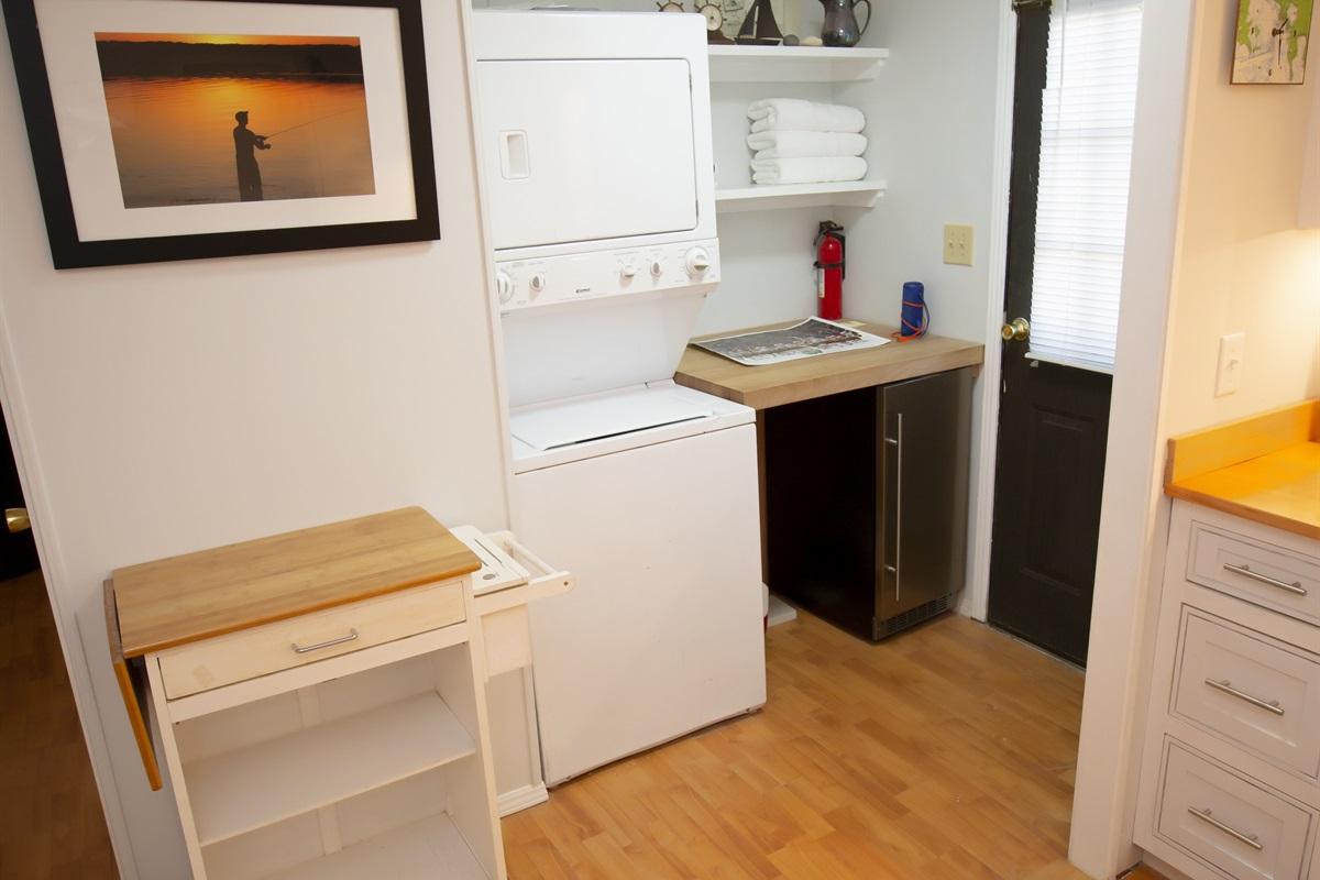 Washer, Dryer and Wine Fridge