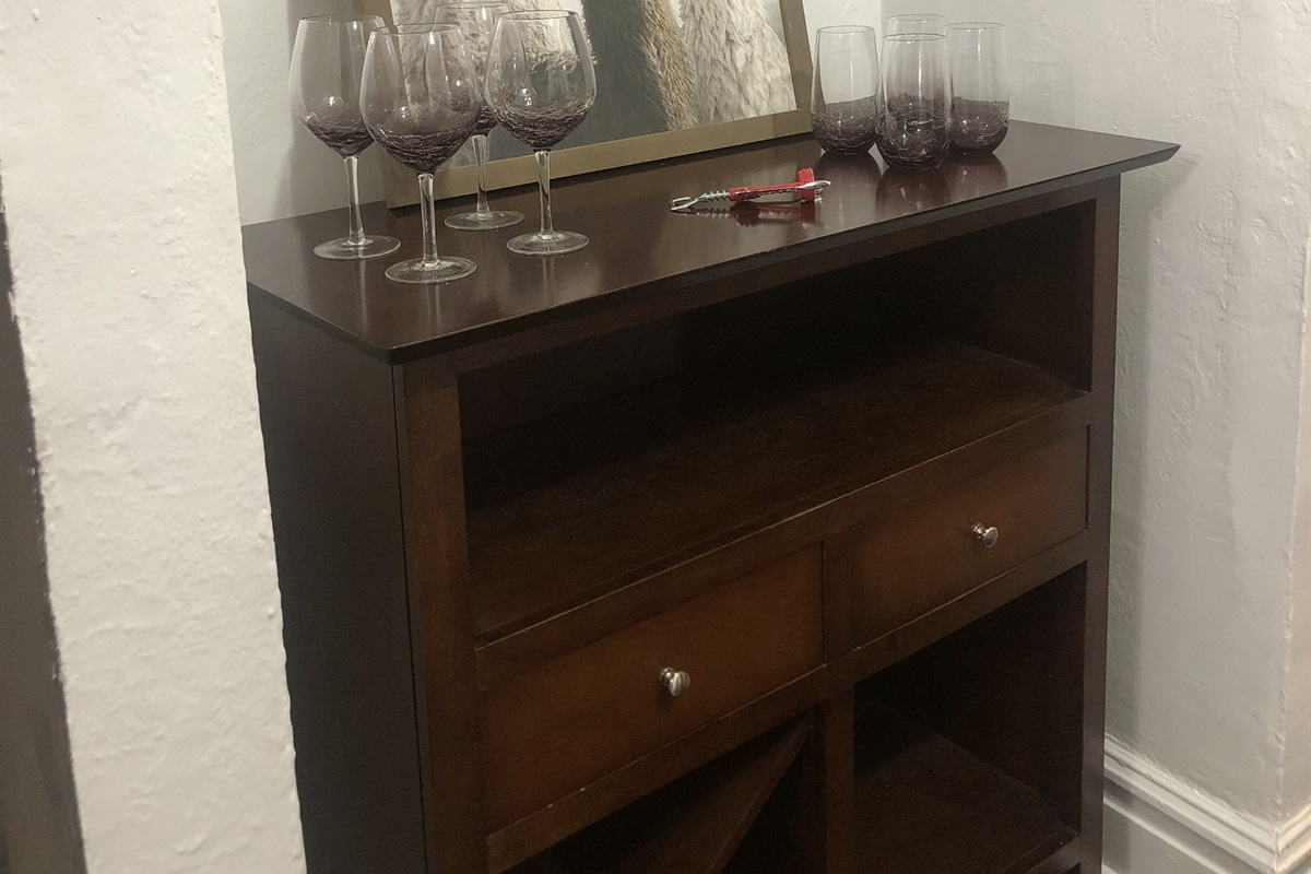 Entry way with wine bar