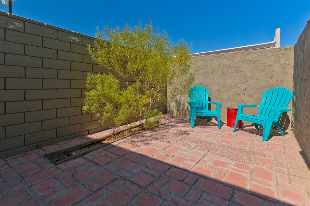 There's also a private outdoor patio attached with its own entrance.