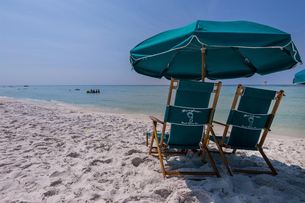 On-site beach service rentals