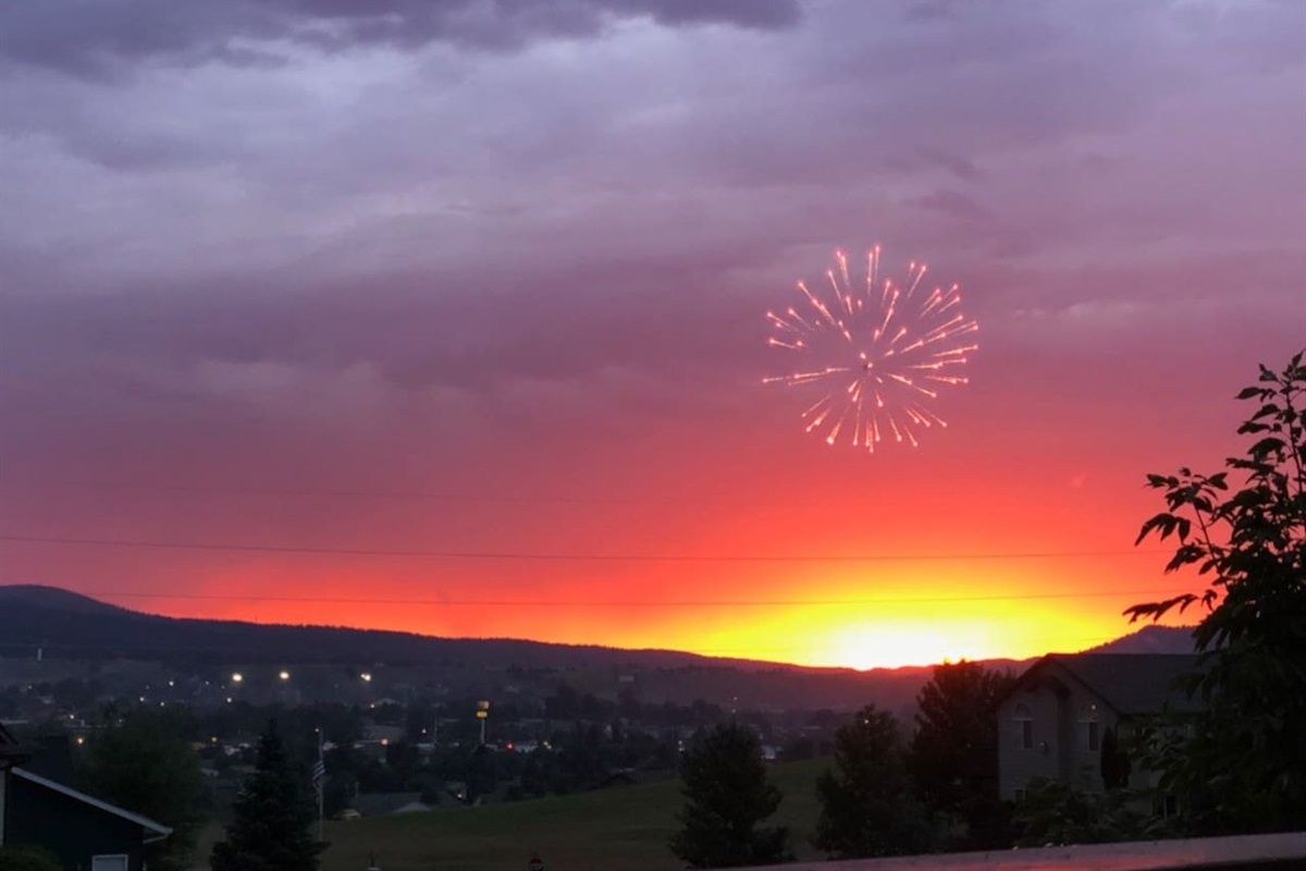 Annual Fireworks show from the deck.