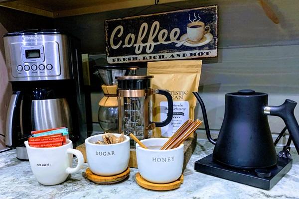 Fresh locally roasted organic coffee and tea!