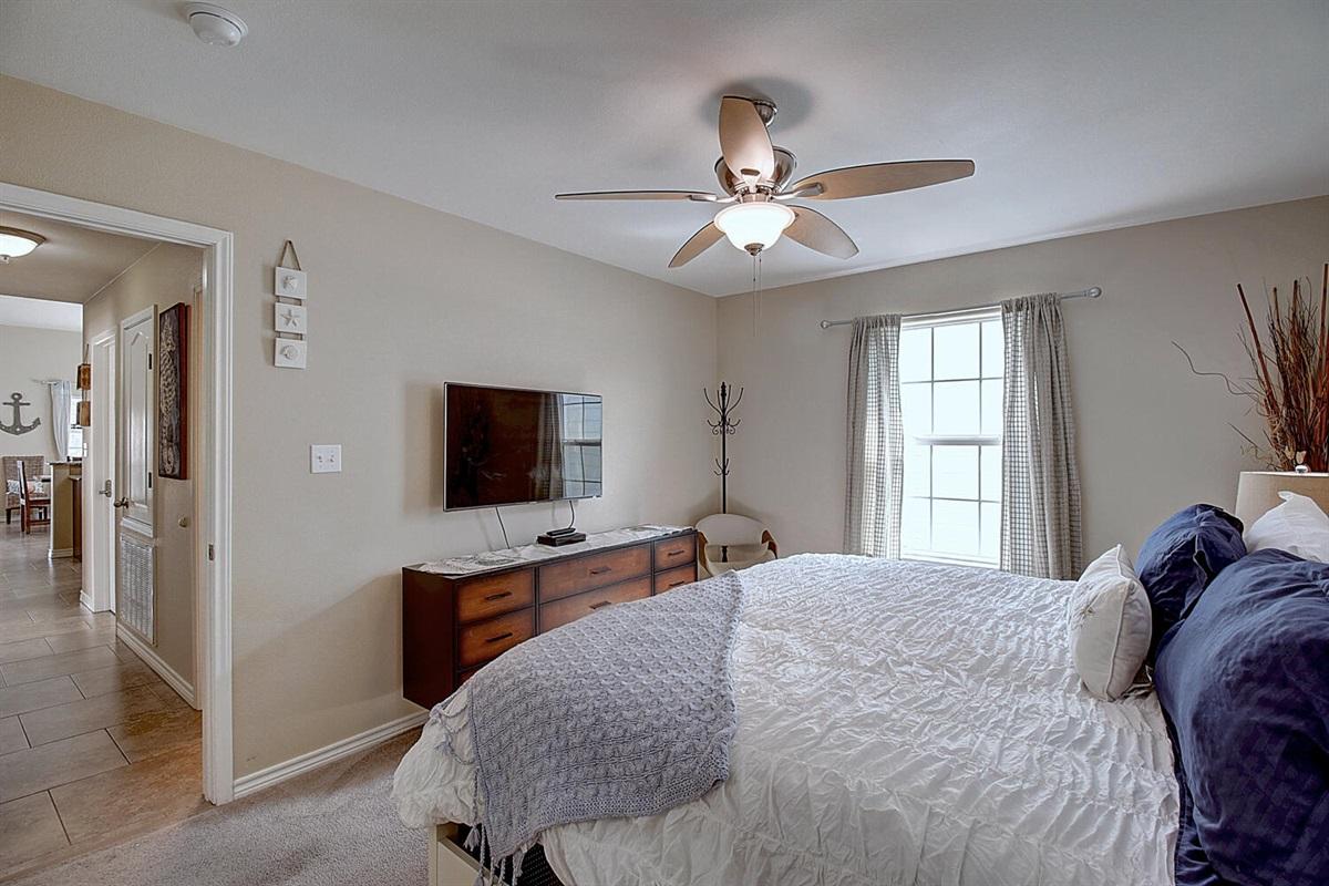 Master Bedroom:  Flat Screen TV
