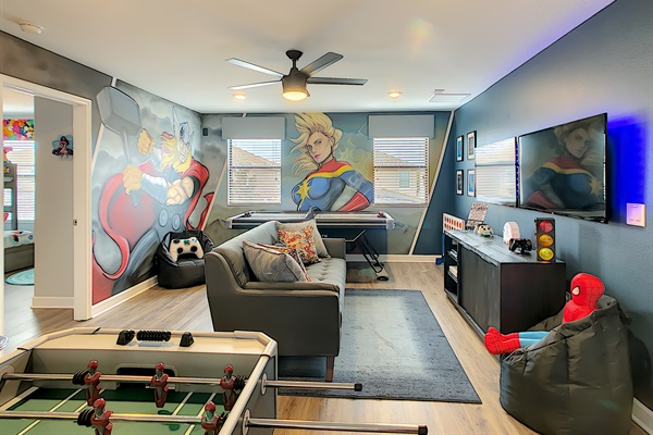 Game Room Loaded With Fun And Personality