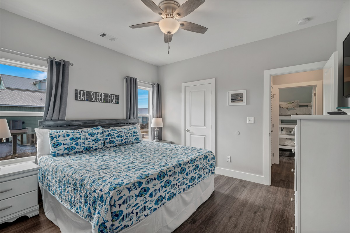 Master Bedroom 2 - King Bed and Full Bath