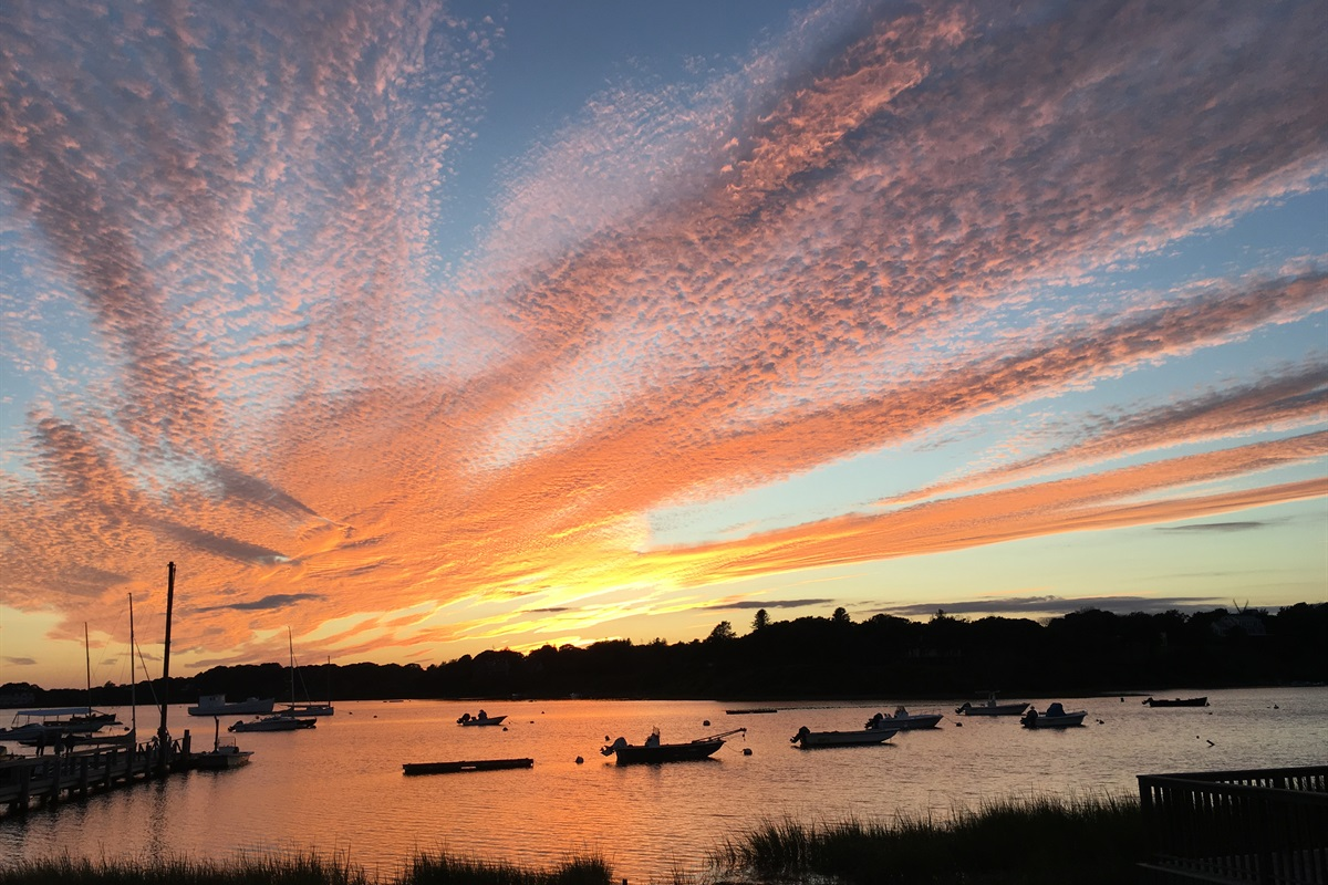 Incredible sunsets over Mill Pond as seen from the compound