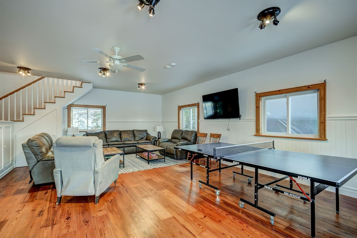 Play some board games, watch netflix, pingpong, or some fooseball in the large gamesroom!