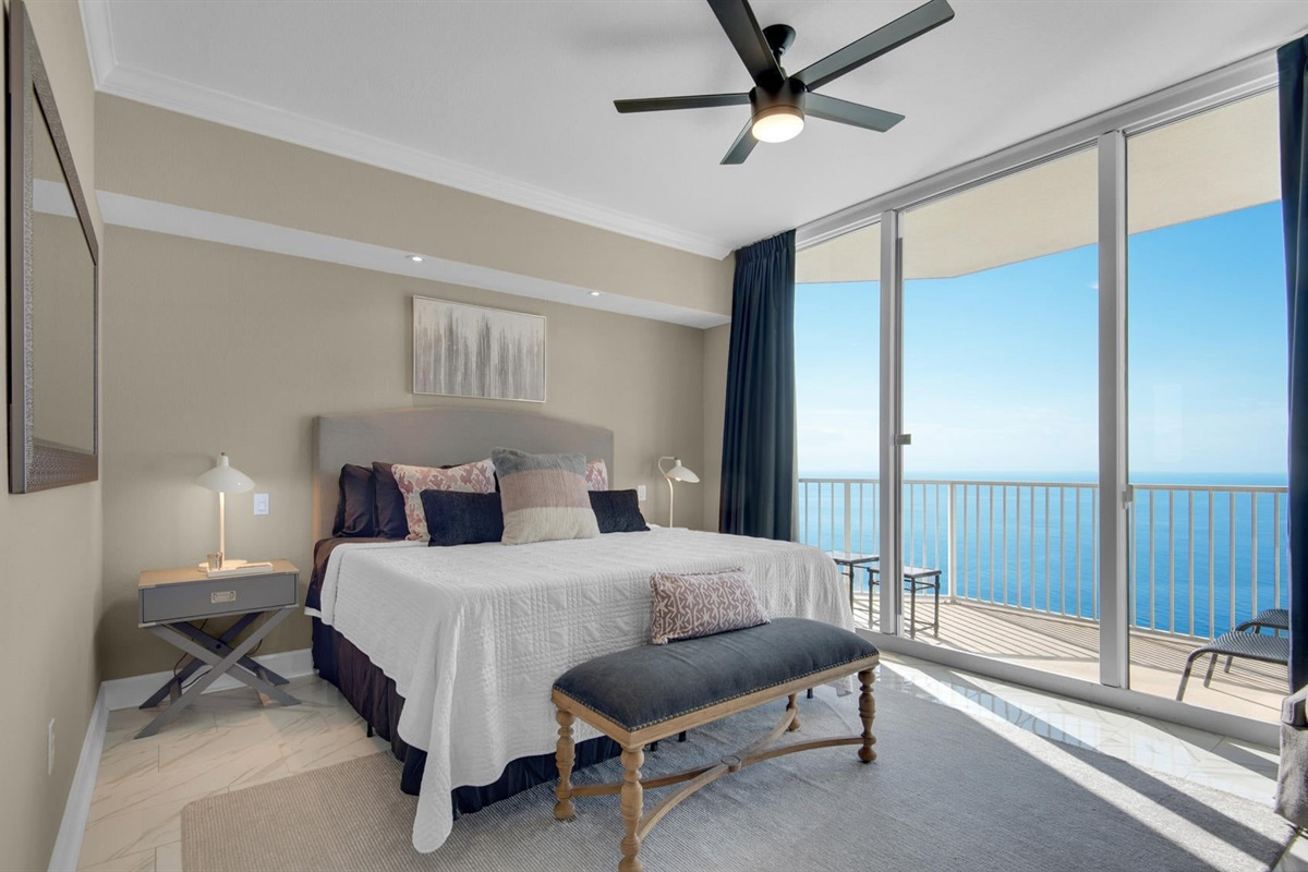 master bedroom 1 direct gulf front with private balconye