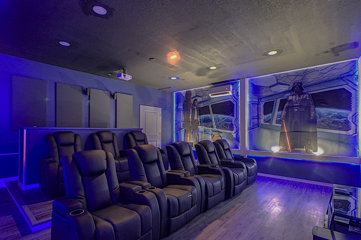 Star Wars Themed Movie-Seats Up To 14