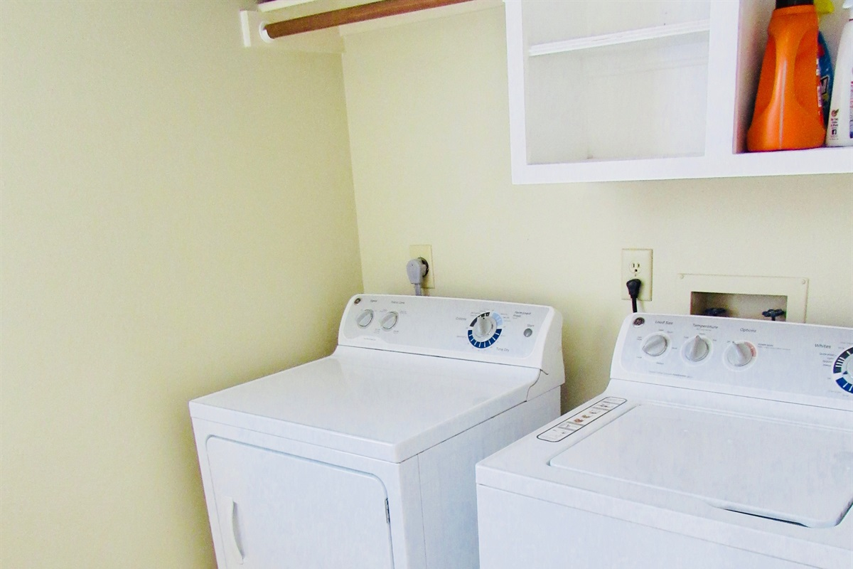 Laundry room (washer and dryer).
