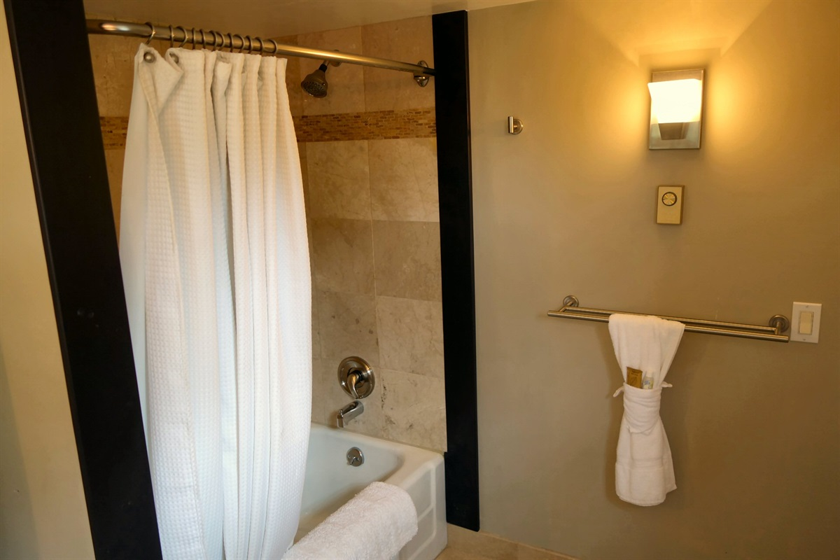 Renovated bathrooms and fixtures