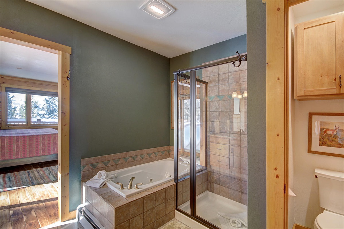 Bath 1 with separate shower and bathtub