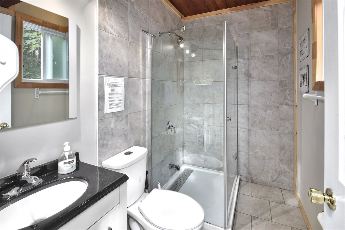 Main floor washroom is convenient and comfortable