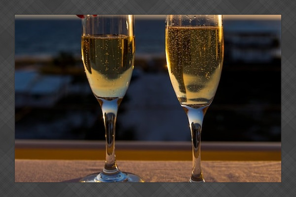 Cheers! We have so much to be thankful for. We even supply champagne glasses.