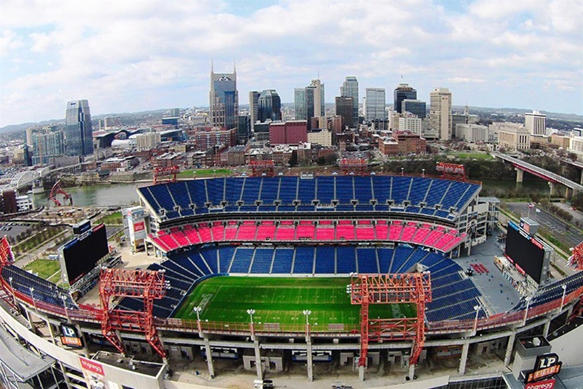 Walk to Nissan stadium! It's just across the Cumberland River... your condo is located 2 blocks south of the glass buildings on the left in the photo! The lower building shaped like a guitar on it's side is Music City Center, 4 blocks from the condo!