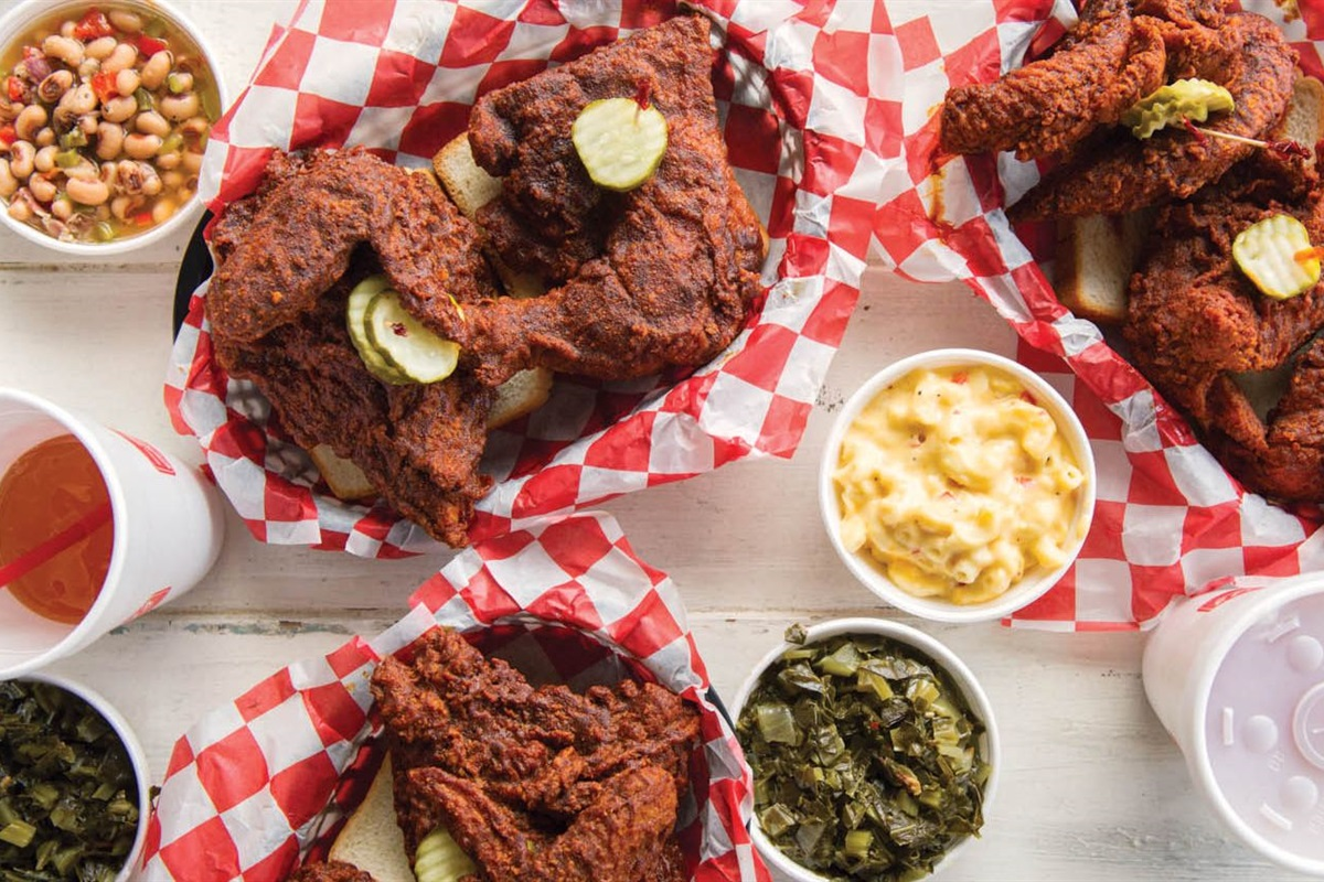 Walk to Nashville's famous Hattie B's and see if you can handle the heat!