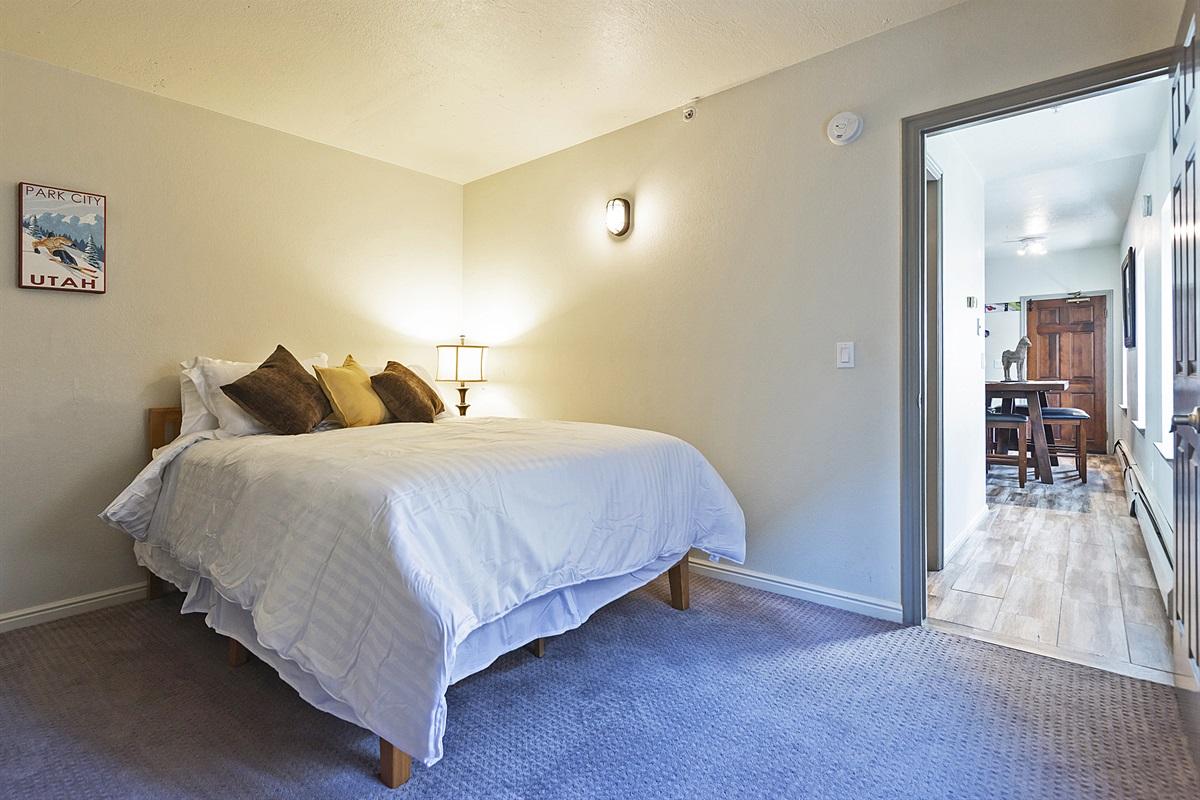 Bedroom two - queen size bed, TV