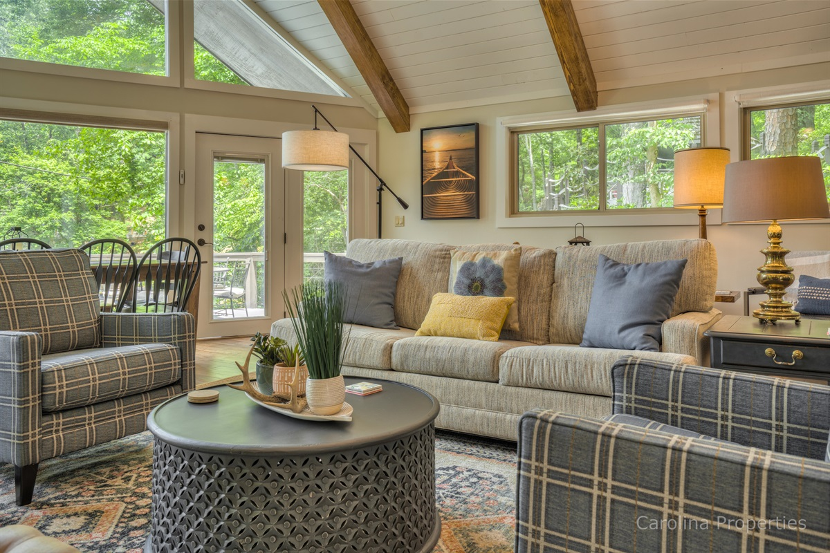 Cozy seating in the living room