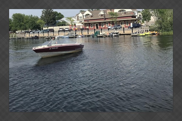 Back docks in wolfboro.  Tie up and grab an ice cream or go grocery shopping!