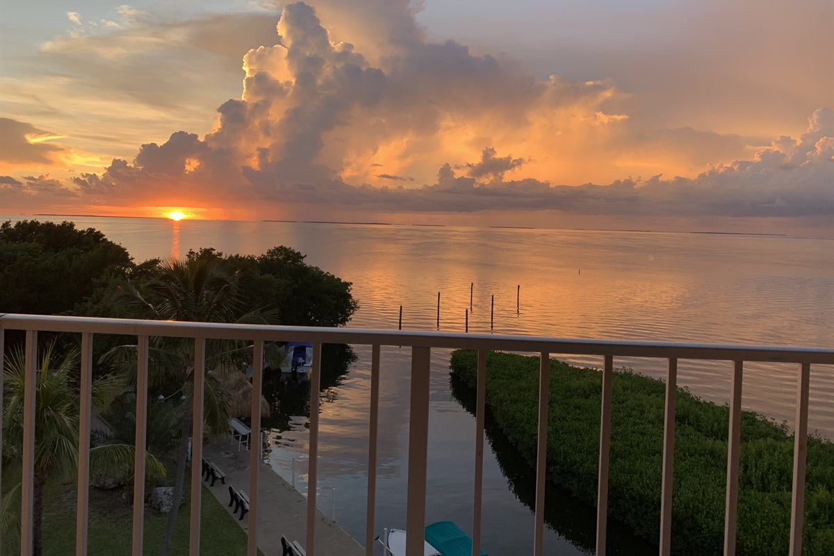 view off the balcony