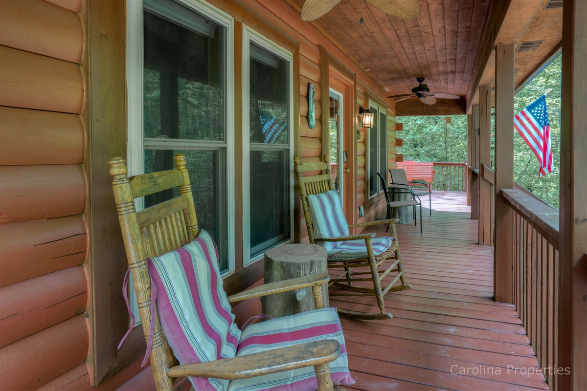 Beautiful front porch with seating