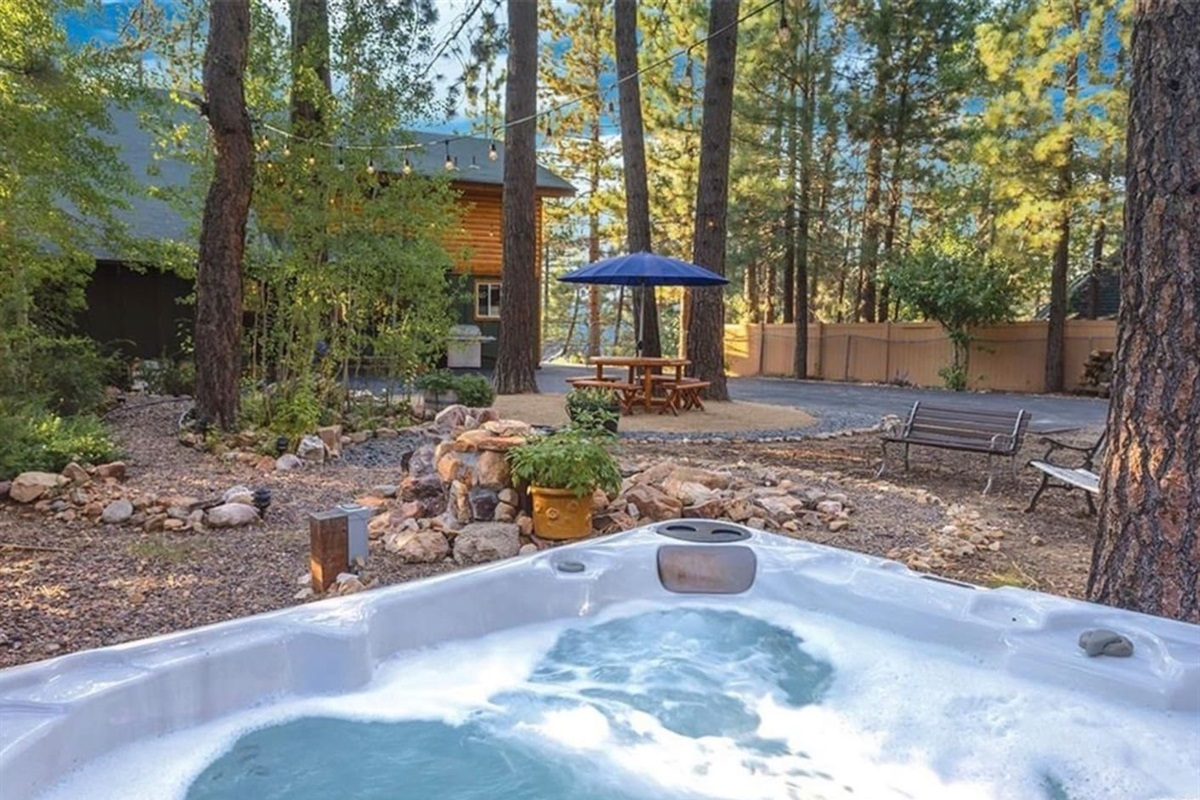 The hot tub is a fantastic place to relax and stargaze!