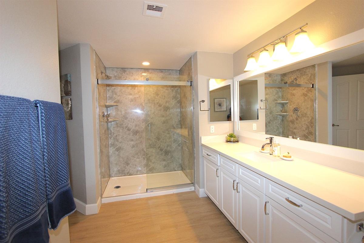Master bathroom with walk in shower.