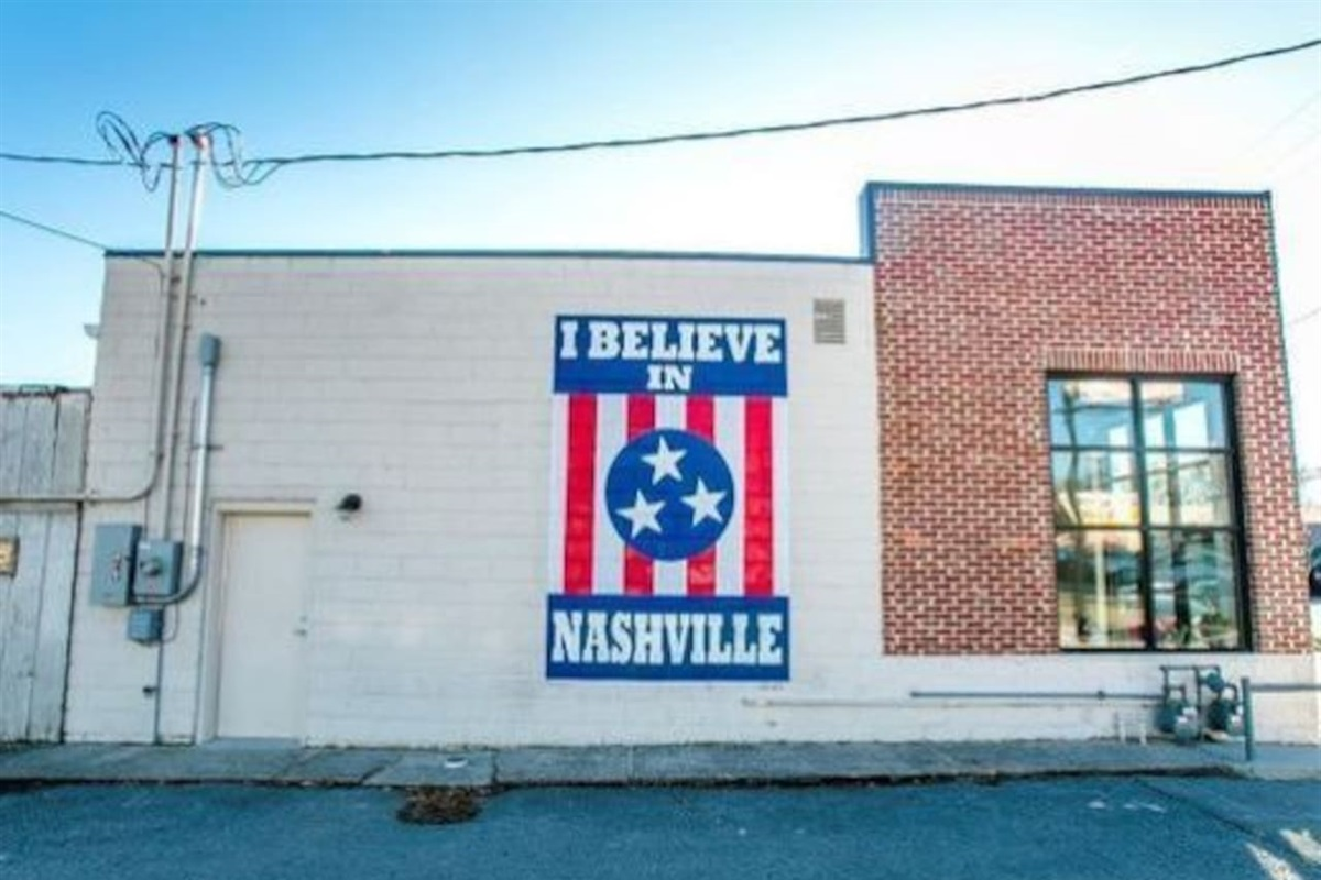 Quick uber to 12 South where you can find the famous 'I Believe In Nashville' sign.