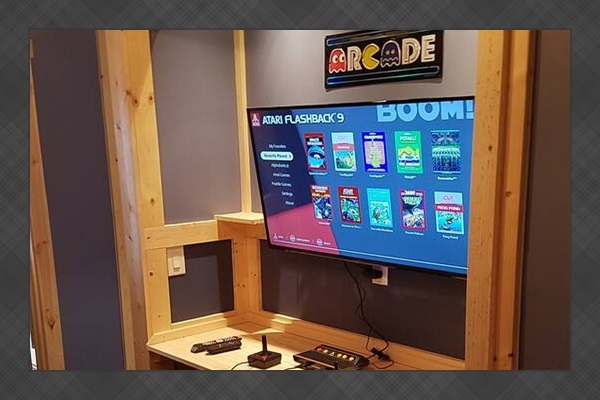 """The Arcade center with 42"""" TV and retro games"""