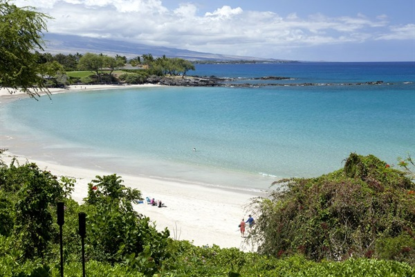 Mauna Kea Beach.  Voted the most beautiful (and safest) in Hawaii, every year!