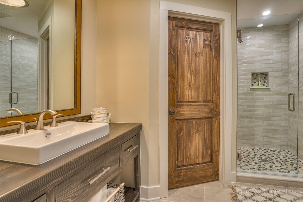 Master bathroom in main house