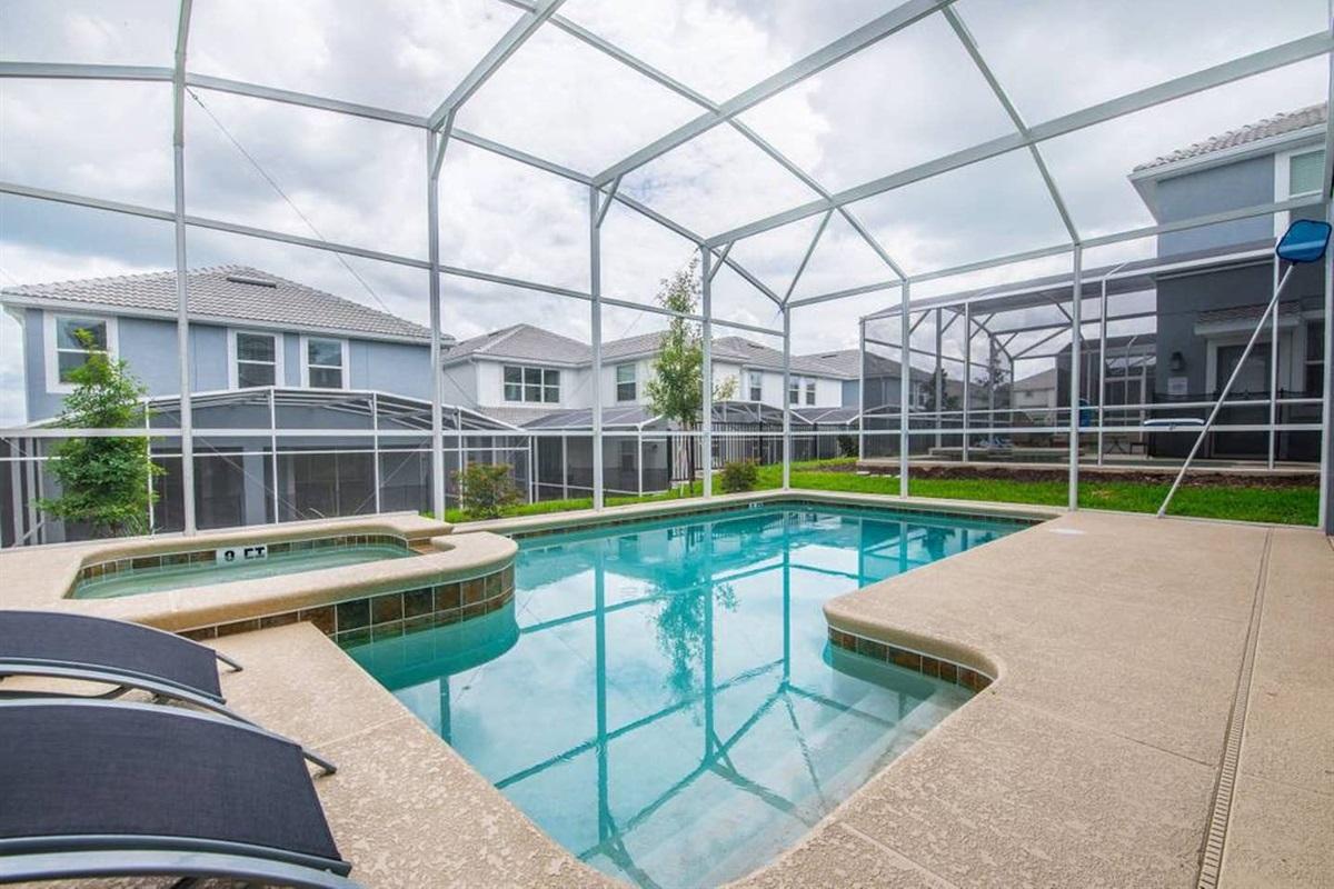 Private heated* pool