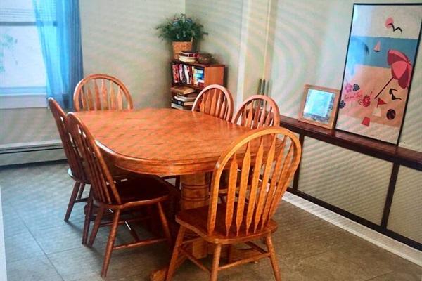 Dining room seats 8