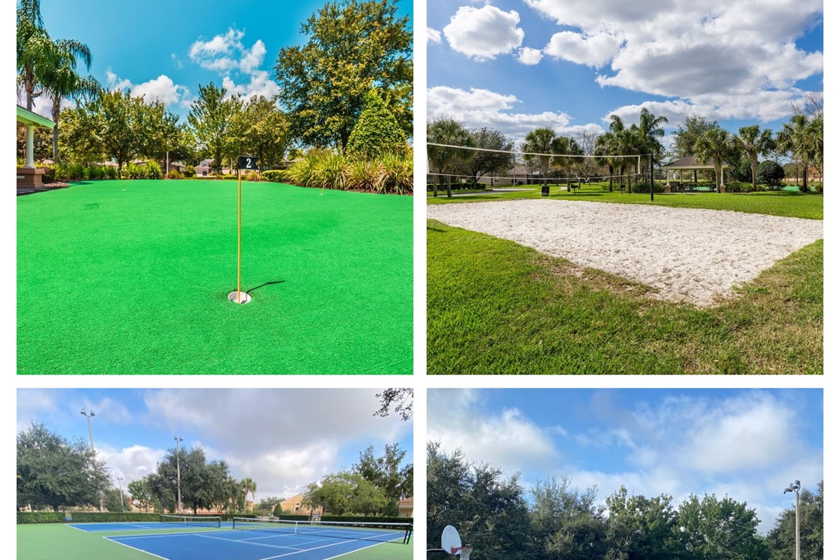 Windsor Hills has a number of sports courts for guests.