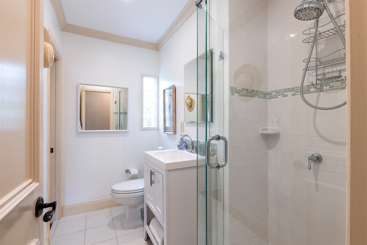 Bathroom 1 En-Suite bathroom with shower & lovely vanity.