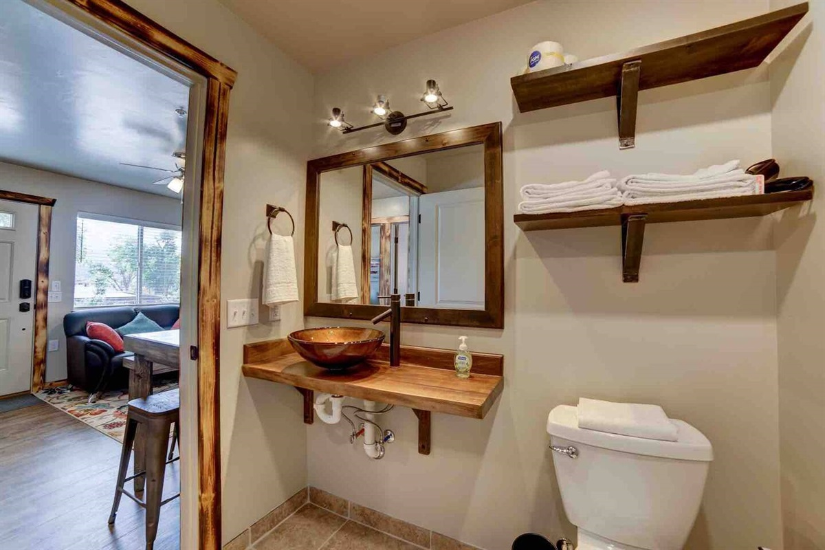 Roomy Bathroom with standup shower