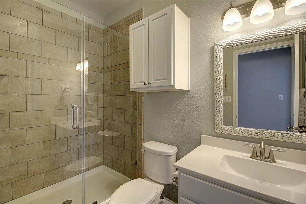 1st Floor Hall Bathroom with walk-in Shower