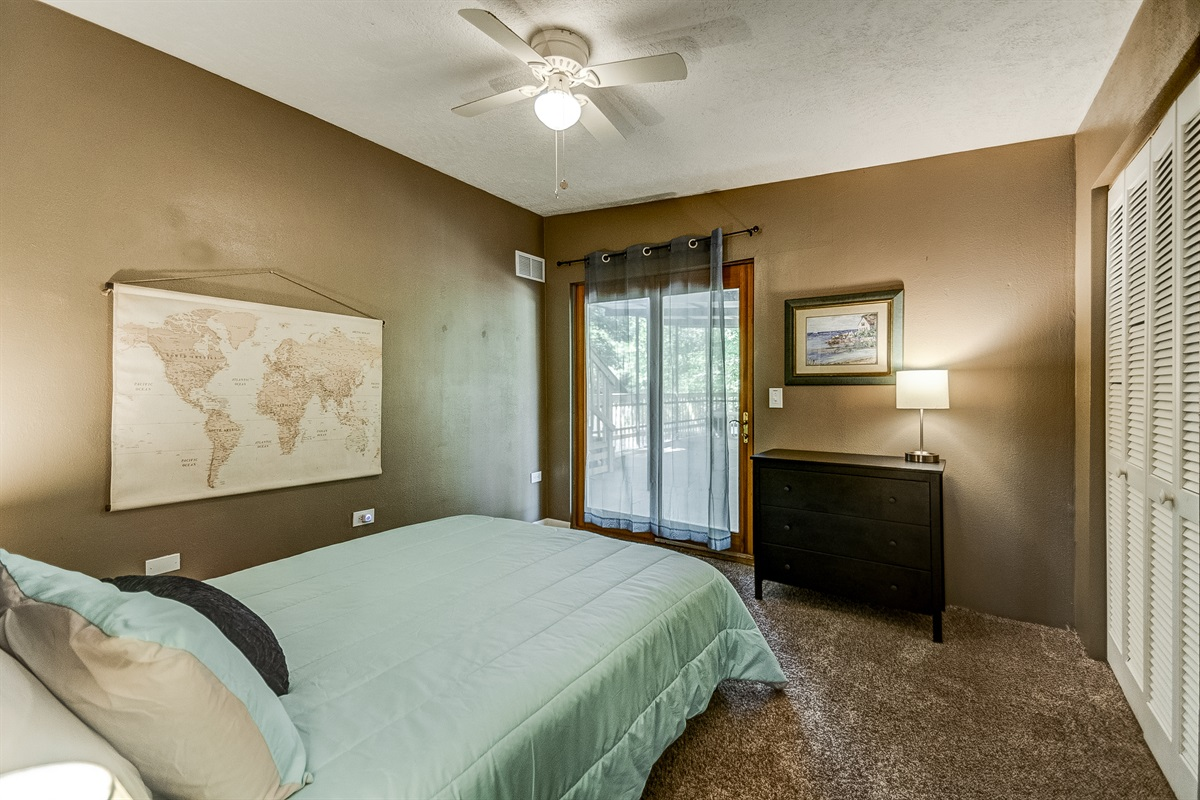 Step out onto the deck from this 2nd floor bedroom