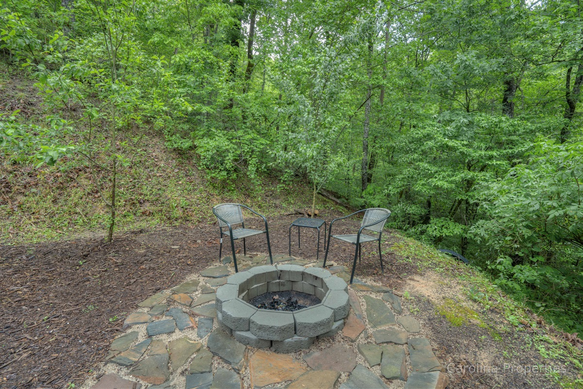 Fire pit with plenty of room for seating