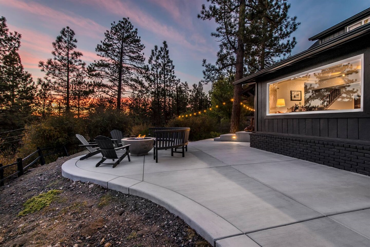 Enjoy gorgeous sunrises and sunsets from the big back deck.