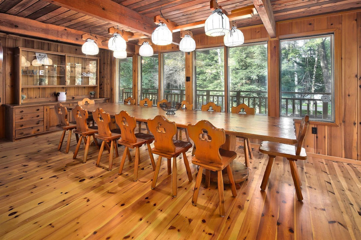 Dining table seats 16